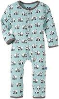 Kickee Pants Printed Coveralls (Baby) - Jade Panda - 12-18 Months
