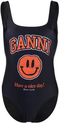 Ganni Smiley swimsuit
