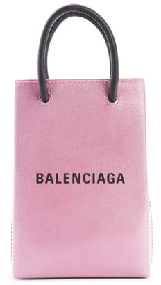 Balenciaga Shopping Leather Phone Shoulder Bag