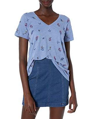 Lucky Brand Women's Tossed Floral Embroidered Tee