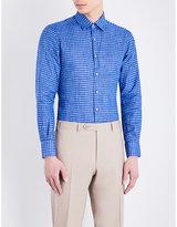 Canali Regular-fit Checked Linen Shirt