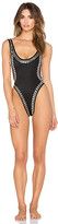 Norma Kamali Stud Marissa Swimsuit in Black