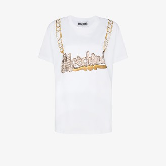 Moschino logo necklace graphic-print T-shirt