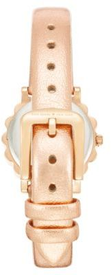 Kate Spade Ladies' Crystallized Rose Gold-Tone Watch with Leather Strap