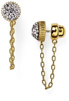 Marc by Marc Jacobs Pavé Cabochon Jacket Chain Stud Earrings
