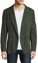 John Varvatos Garment Dyed Patch Military Soft Jacket