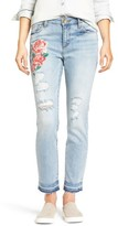 KUT from the Kloth Women's Embroidered Straight Leg Jeans