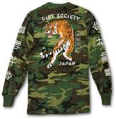 Riot Society Japanese Tiger Camo Mens Long Sleeve T-Shirt - L