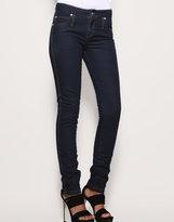 High Waisted Indigo Slim Jeans