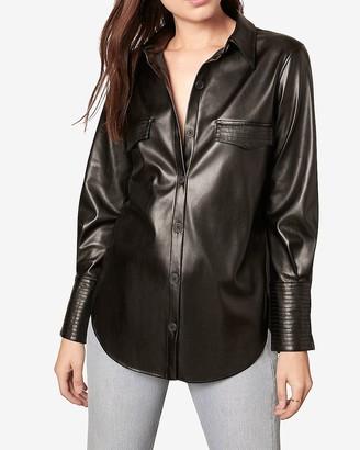 Express Bb Dakota Vegan Leather Shirt