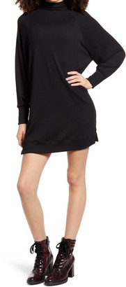 Socialite Long Sleeve Textured Knit Shift Dress