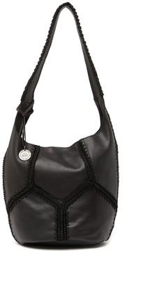The Sak 30 Year Anniversary Crochet Trim Leather Bucket Bag