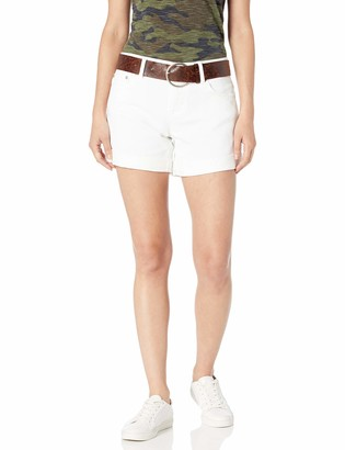 Dollhouse Women's White Belted Shorts with Destruction 5