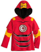 Disney Iron Man Double-Up Long Sleeve Hooded Tee for Boys