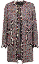 Giambattista Valli Fringed Tweed Coat