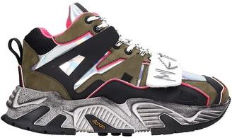 Gienchi Trekking Radar Sneakers In Black Tech/synthetic