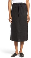 Eileen Fisher Women's Organic Linen Straight Skirt