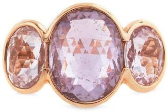 Bayco 18kt Rose Gold Briolette Madagascar Sapphire Ring