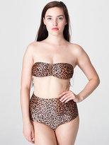 American Apparel Cheetah Print Nylon Tricot High-Waist Swim Brief