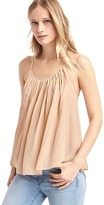 Gap Pleat scoop neck tank