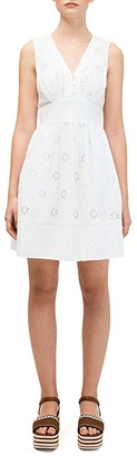 Kate Spade Spade Clover Eyelet Mini Dress (Fresh White) Women's Dress