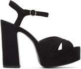 Marc Jacobs Black Suede Lust Platform Sandals
