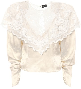 Magda Butrym Alkmaar lace-trimmed silk blouse