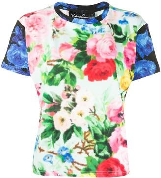 Richard Quinn contrast sleeve floral print T-shirt