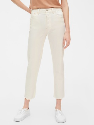 Gap High Rise Cheeky Straight Jeans with Raw Hem