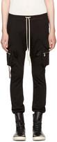 Rick Owens Black Cargo Jog Pants