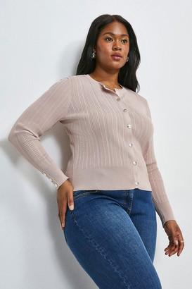 Karen Millen Curve Knitted Rib Cardigan