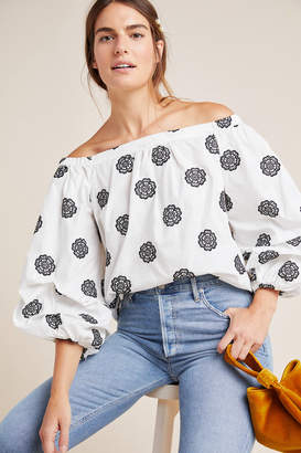 Maeve Cornelia Off-The-Shoulder Blouse