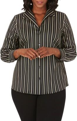 Foxcroft Gracey Festive Stripe Shirt