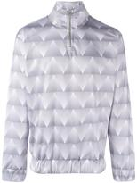 Han Kjobenhavn triangle print zipped sweatshirt