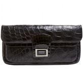 Kara Ross pristine (PR Black Matte & Shiny Alligator XL Clutch
