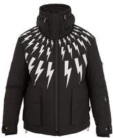 Neil Barrett Lightning Bolt-print Hooded Ski Jacket