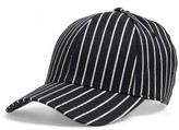 Rag & Bone Men's Stripe Wool & Cotton Baseball Cap - Black
