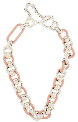 Bottega Veneta Sterling-silver Chain Necklace - Silver Multi