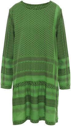 Cecilie Copenhagen 2 O Gathered Cotton-jacquard Mini Dress