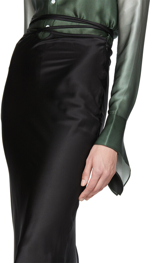 Thumbnail for your product : CHRISTOPHER ESBER Black Wrapped Tie Skirt