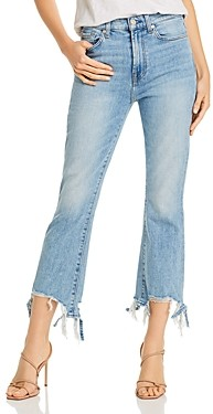 7 For All Mankind High-Rise Slim Kick Jeans in Vail