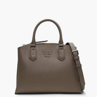 DKNY Noho Brown Pebbled Leather Satchel Bag