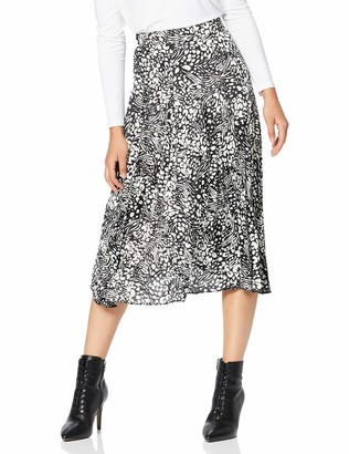 New Look Petite Women's Mix Animal Pleat Skirt