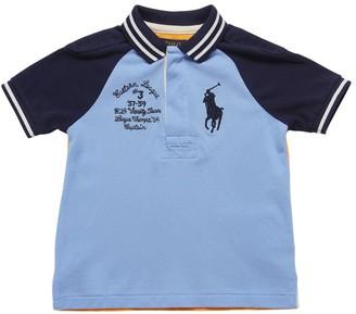 Ralph Lauren Color Block Cotton Piquet Polo Shirt