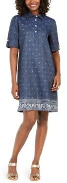 Karen Scott Petite Chambray Shirtdress, Created for Macy's