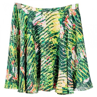Kenzo Green Silk Skirt for Women
