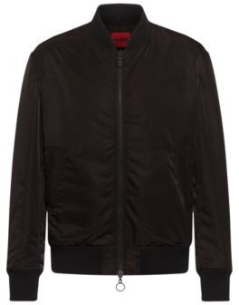 HUGO BOSS Unisex water-repellent bomber jacket in recycled fabric
