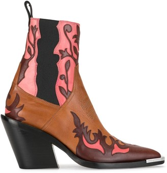 Paco Rabanne Western ankle boots