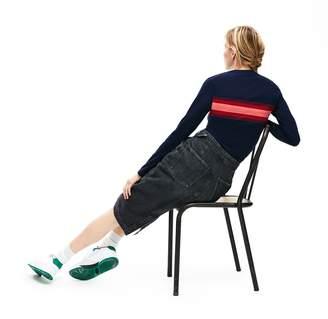 Lacoste Women's Long Sleeve Multicolor Stripe T-Shirt