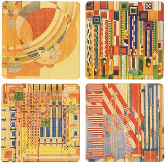 "CoasterStone Absorbent Coasters 4-1/4-Inch ""Frank Lloyd Wright Liberty Covers III"" Set of 4"